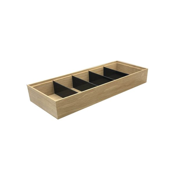 Plain Natural Oak Partitioned Stacker Box 450x179x60