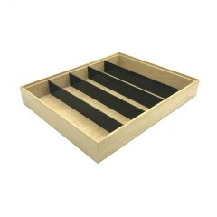 Plain Natural Oak Partitioned Stacker Box 450x360x60