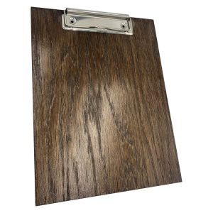 dark brown oak veneered clipboard