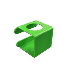Green Acrylic wall mounted bracket with 70mm Round hole 110x110x110