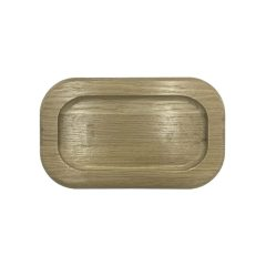 Oak rounded double coffee cup tray 25015018