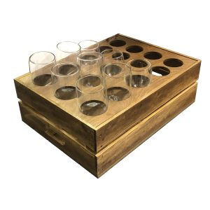 Rustic Beer Garden Crate 500x370x165 with insert and glasses
