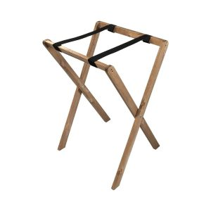 Rustic Brown Pine Folding Tray Stand 495x445x730
