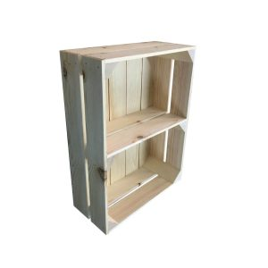 Rustic Redwood Crate Shelf 353x157x50 in crate
