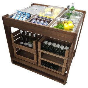Mobile Buffet Servery Display Unit 1136x895x1110 in use