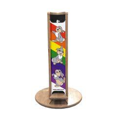 Nurseries pine hands free freestanding hand sanitiser dispenser stand 623x400D front view