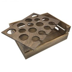 Rustic Beer Garden Drop Front Crate 500x370x165 with insert askew