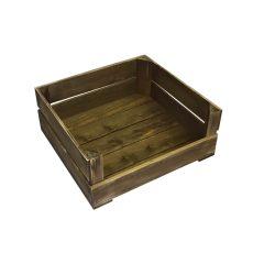 rustic drop front crate 370x370x165