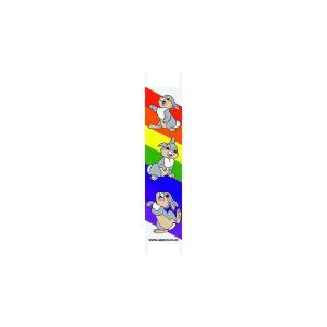 Rainbow Rabbit Nursery Dispenser Sign Fascia 585x120