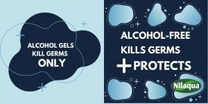 Alcohol Free Kills Germs AND Protects