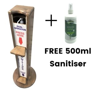 Dual Operation Hands Free 500ml Sanitiser Stand 1030x400D