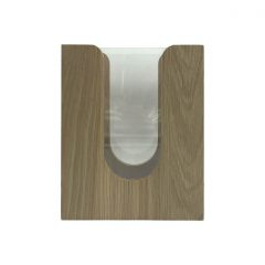 oak napkin dispenser with acrylic and rollers 196x115x240 side view
