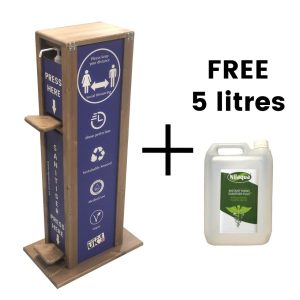 Dual Operation Hands Free 5 Litre Single Sanitiser Stand 475x297x1000