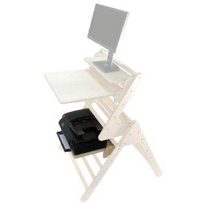 Pikler accessory and printer Shelf Highlighted in senior Pikler Desk set