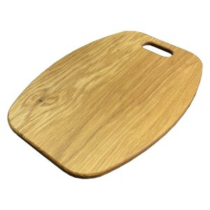 Curved Oak Board with Handle 365x266x12