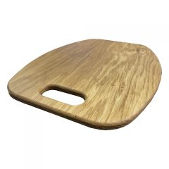 Curved Oak Board with Handle 365x266x12 detail