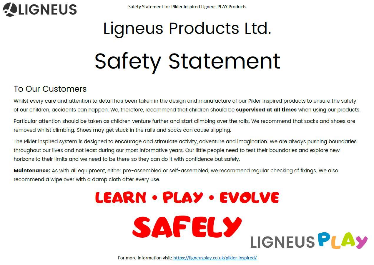 Pikler Safety Statement