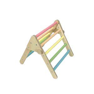Nursery Ligneus Play Pikler Triangle Pastel Rainbow