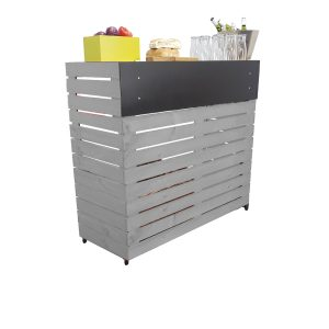 Gretton Grey Painted pop up exhibition bar