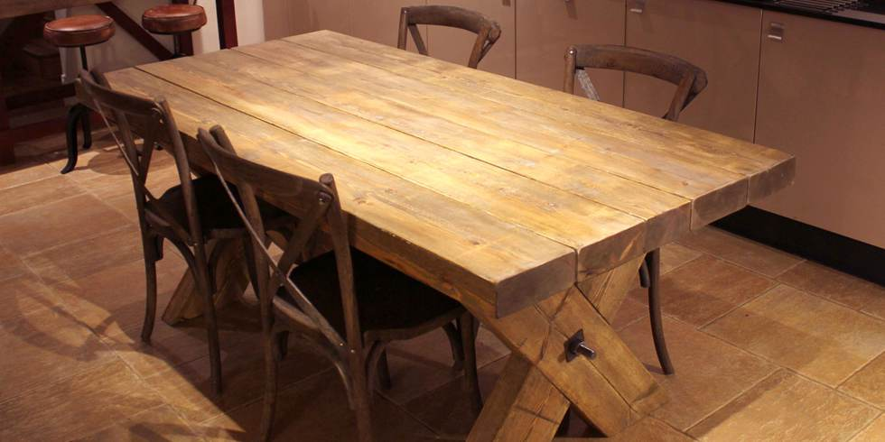 hand crafted farmhouse tables
