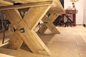 rustic farmhouse table underside