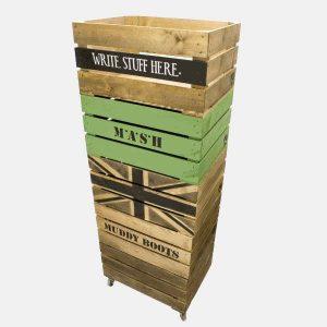 Stencilled Crates