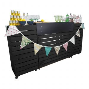 Black Painted Pop up Bar Front view