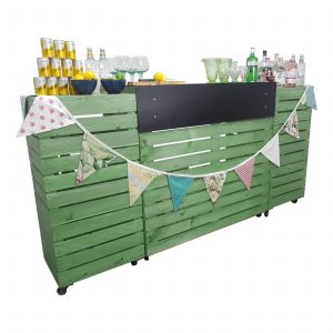 Tetbury Green Painted Pop up Bar Front view